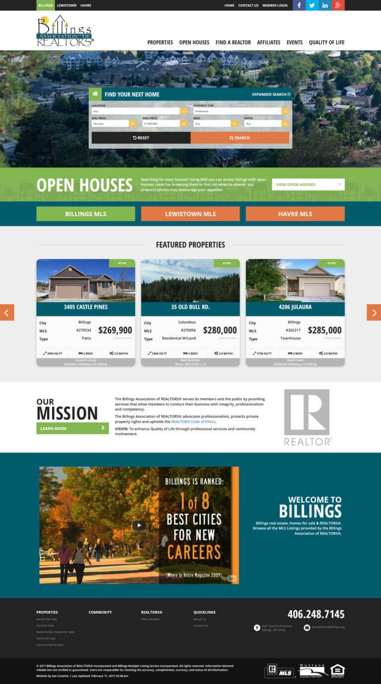 Billings Realtors - Custom WordPress