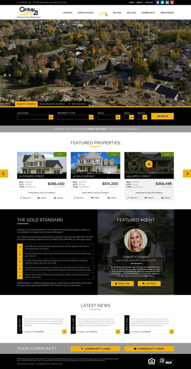 Century 21 Realtors - Custom WordPress