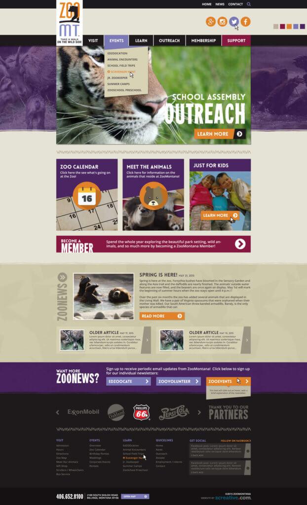 Zoo Montana WordPress Website - Billings, MT