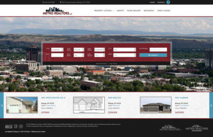 Metro Realtors - Real estate website