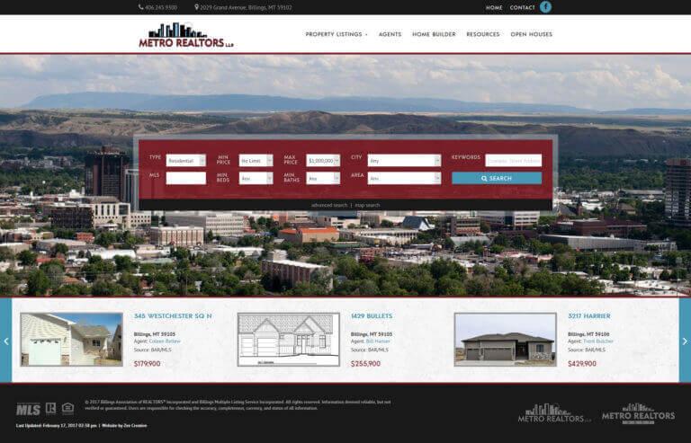 Metro Realtors - Custom WordPress