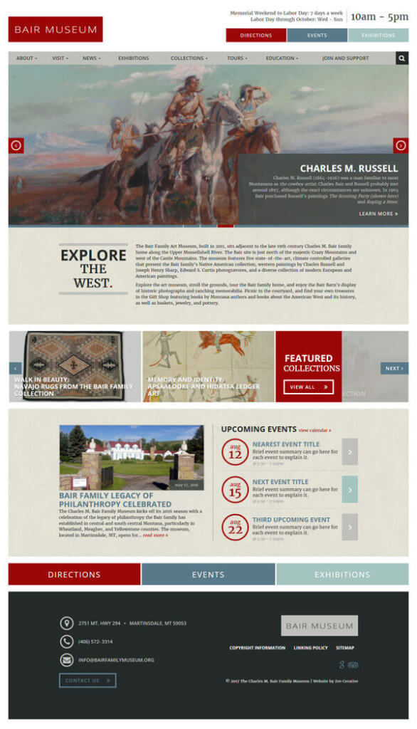 Bair Family Museum WordPress Website - Martinsdale, MT