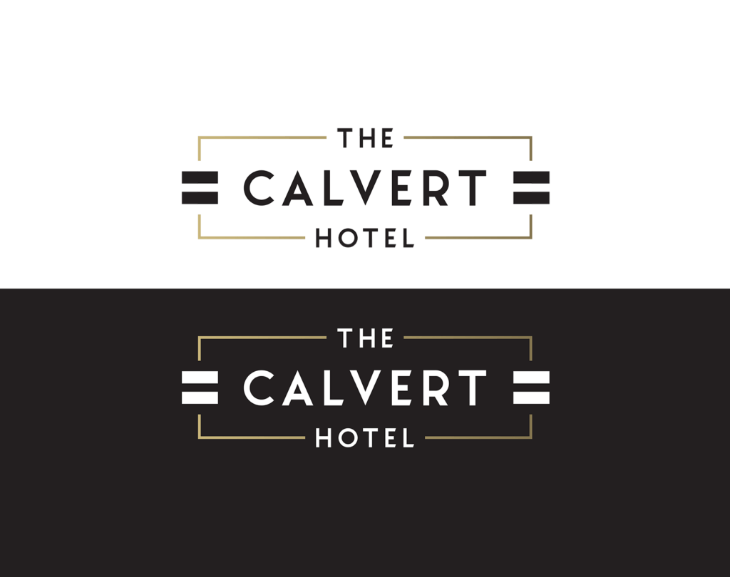 The Calvert - Hotel logo design