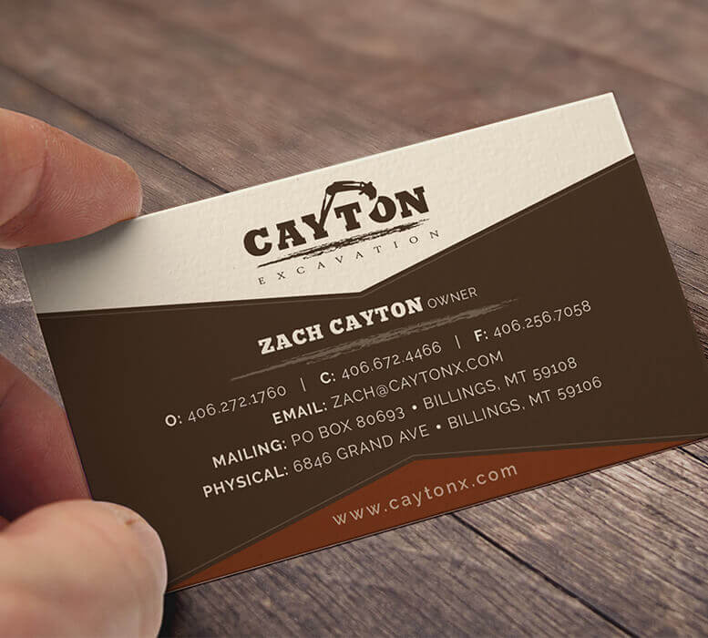 Cayton Excavating - Business card design
