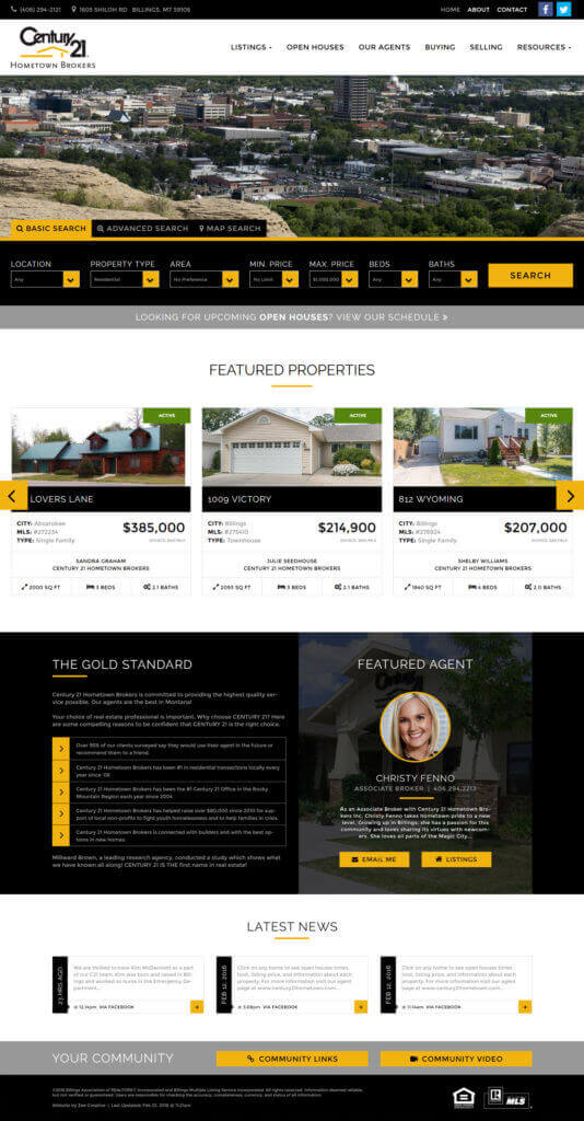 Century 21 WordPress Website - Billings, MT