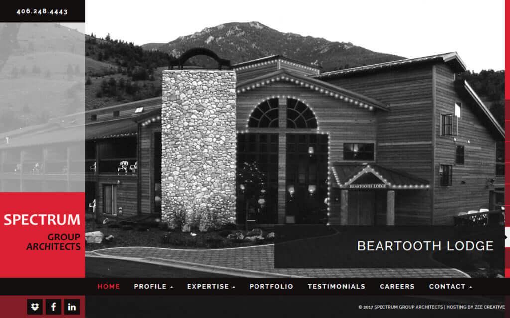 Spectrum Group Architects WordPress Website - Billings, MT