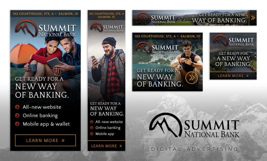 Summit National Bank - PPC display ad set designs