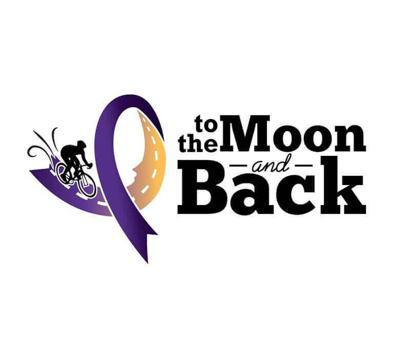 To the Moon and Back - Bike race logo